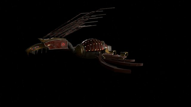 Phoenix Landing Animation 3D Model