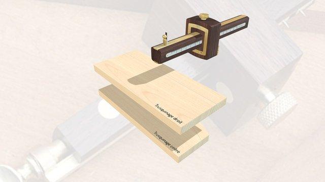 Marking Gauge / Trusquin De Précision 3D Model