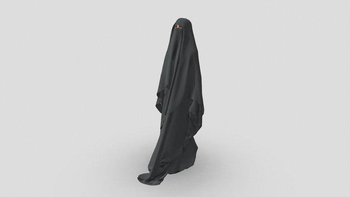 Walking Middle Eastern Woman - 3D People 3D Model