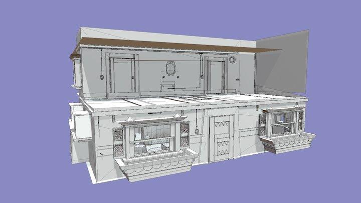 Oozma Kappa's House Inside 3D Model