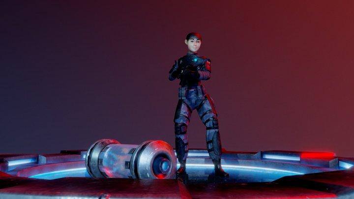 Diorama - Sci-Fi Scene 3D Model