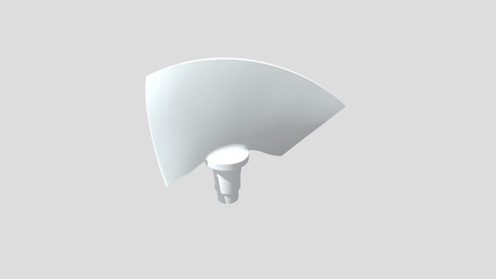 Water turbine blade - CAD model 3D Model