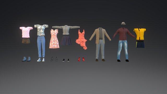 Clothes test set 3D Model
