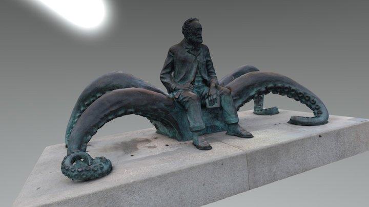 ESTATUA DE JULIO VERNE. VIGO 3D Model