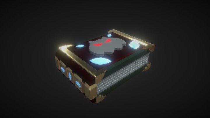 Low Poly Fantasy Grimoire 3D Model