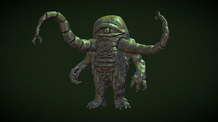 Green Slime Monster 3D Model