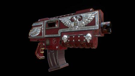 Relic bolter variation 3D Model