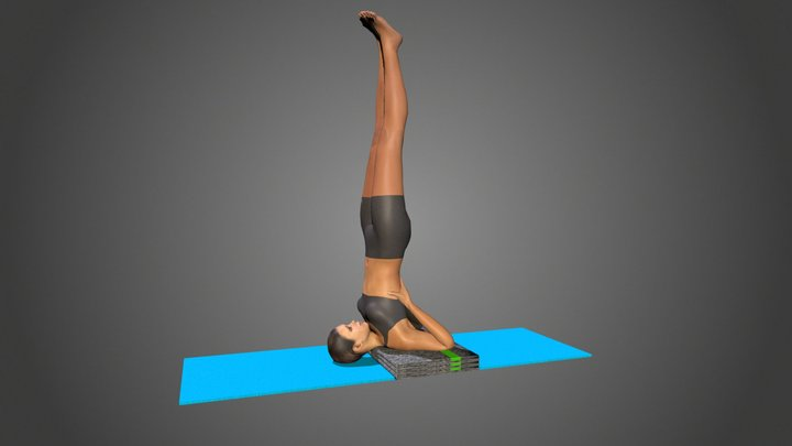 Yoga Pose Salamba Sarvangasana 3D Model