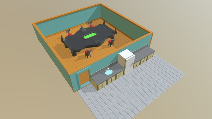 Monster Kitchen and Dining Room 3D Model