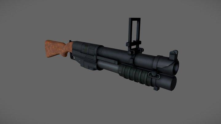 China Lake 40mm Pump Action 3D Model
