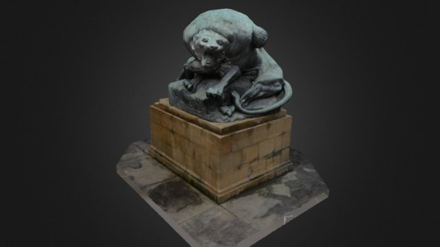 Hercules and the Nemean Lion 3D Model