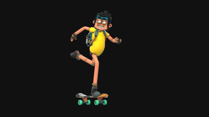 Nemo Skating 3D Model