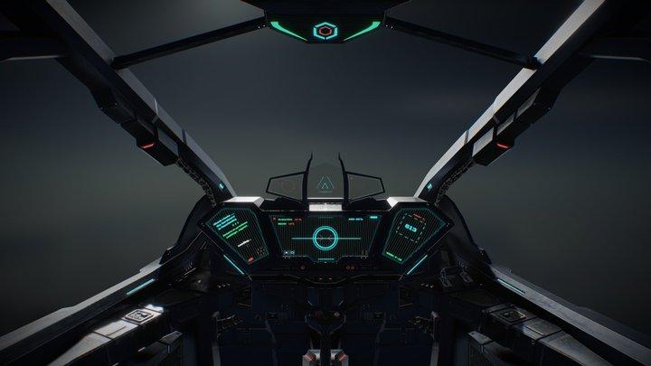 Cockpit Space Fighter 3D Model