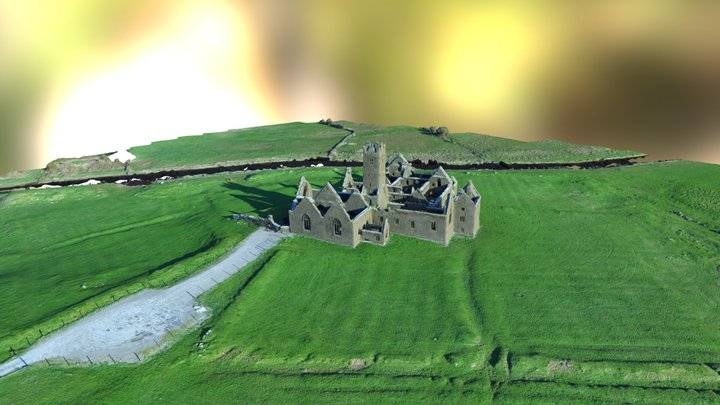 Ross Errilly Friary (Ross Abbey) Galway Ireland 3D Model