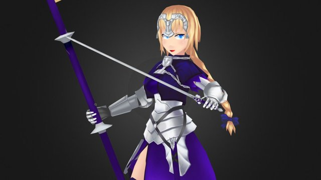 Fate/Apocrypha  Jeanne d'Arc 3D Model