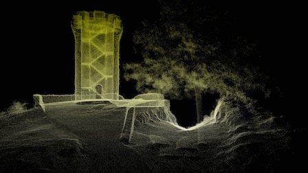 Castle Craig Tower, Meriden Connecticut 3D Model