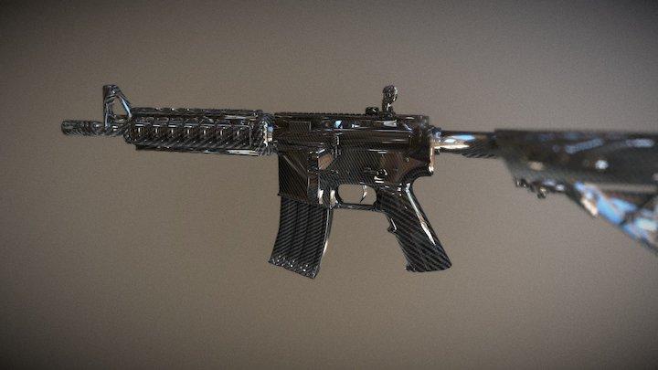 CSGO M4A4 Template 3D Model