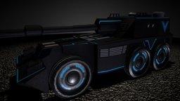 Futuristic G6 Rhino 3D Model