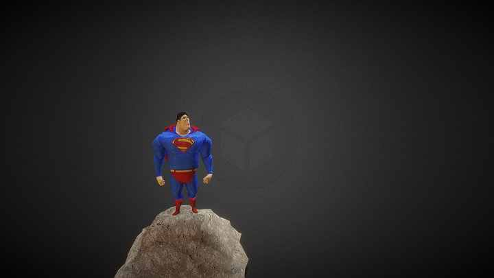 Superman Stylized Lowpoly (FanArt) 3D Model