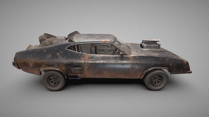 Ford Falcon XB GT Interceptor 3D Model