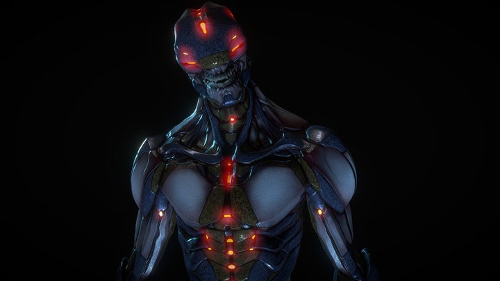 Free - Biomechanical Mutant 3D Model