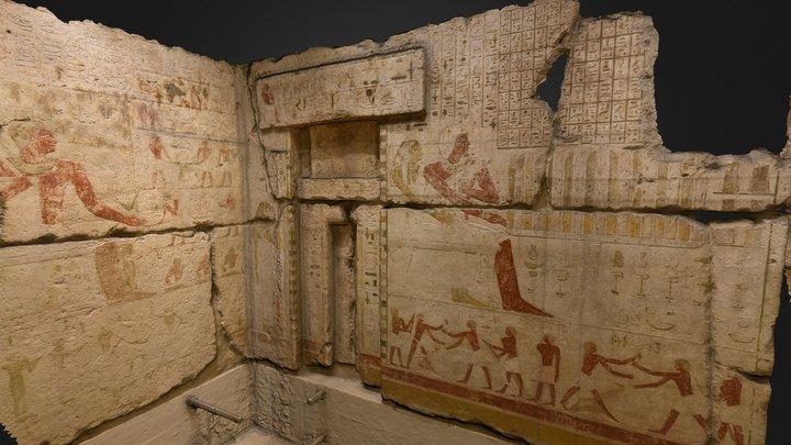 Opferkammer des Seschemnefer III. aus Giza 3D Model
