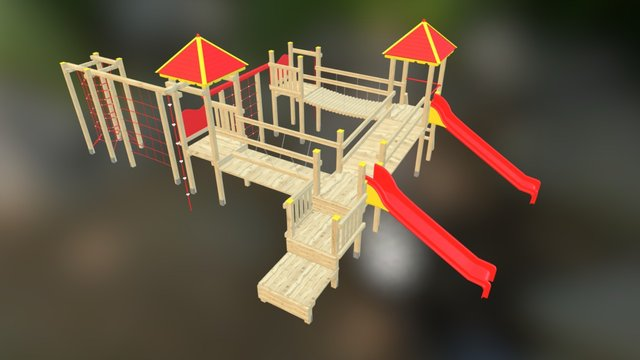 Plac zabaw 3D Model