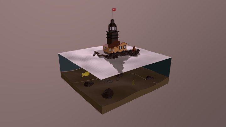 Kiz Kulesi Turkey 3D Model