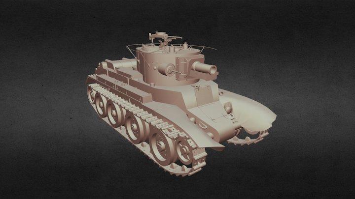 Tank BT-7A 3D Model