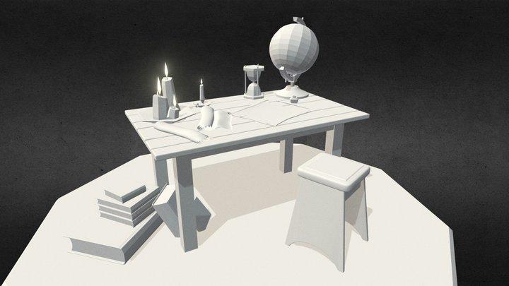 Work space for artist 3D Model
