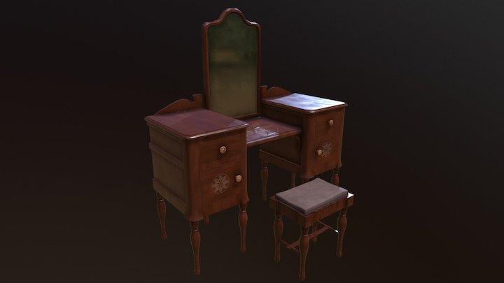 Antique Vanity - Game Asset 3D Model