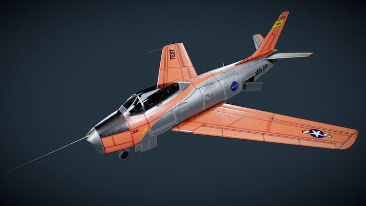 F-86F-30-NA Sabre NASA 3D Model