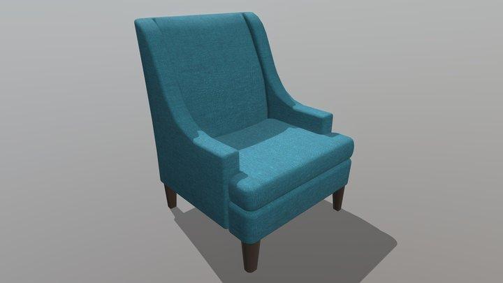 Linen Armchair 3D Model