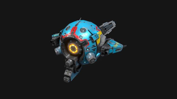 SF Light Drone-ZR7 3D Model