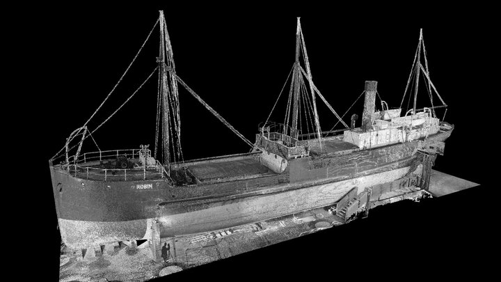 SS Robin - 3D Point Cloud (E,B) 3D Model