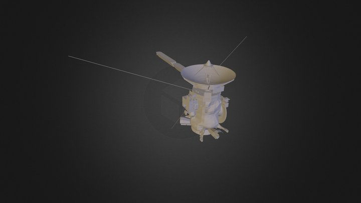 Cassini spacecraft (3D printable) 3D Model