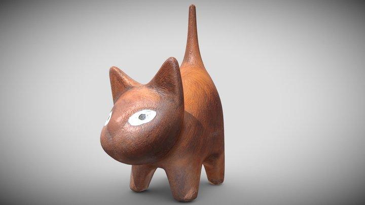 Gato de Barro Real-Time 3D 3D Model