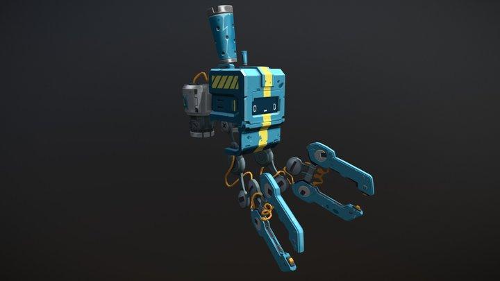 Engineer Bot - Wildstar Fanart 3D Model