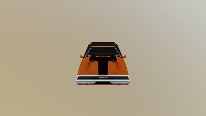 Dodge Challenger 1970 Custom (lowpoly) 3D Model