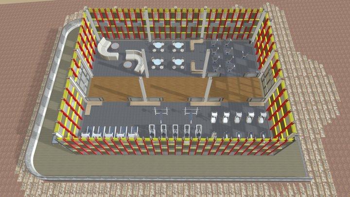 GYM Minero 3D Model