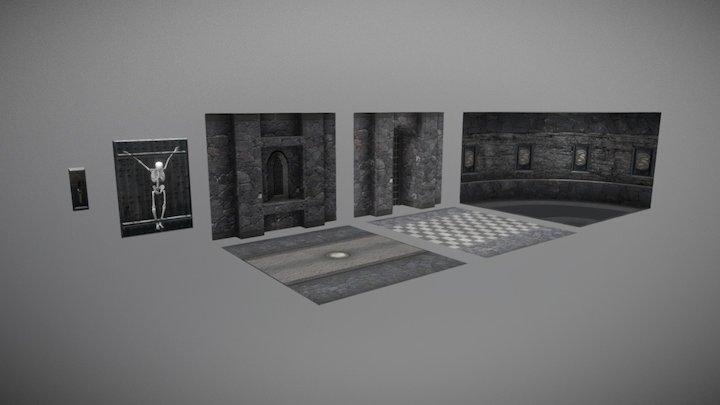 Medieval castle modular kits (interior) 3D Model