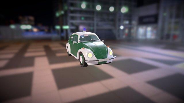 1973 Volkswagen Beetle Police Car 3D Model