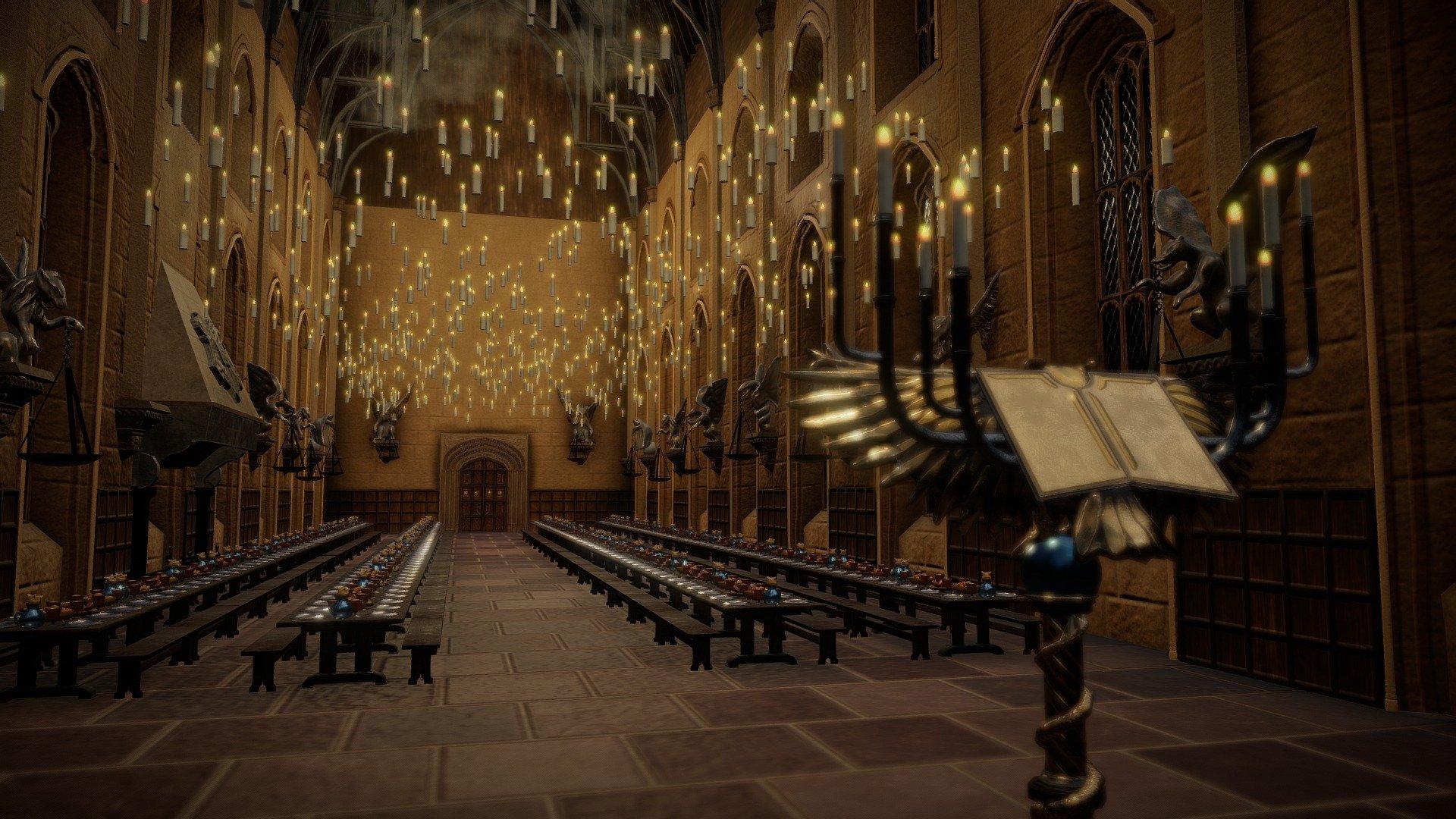 Harry Potter Hogwarts Great Hall Animated Buy Royalty Free