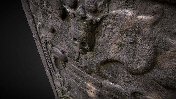 Stone Wall Near Church 3D Model