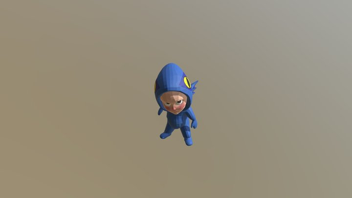 Animated Cartoon Character 3D Model