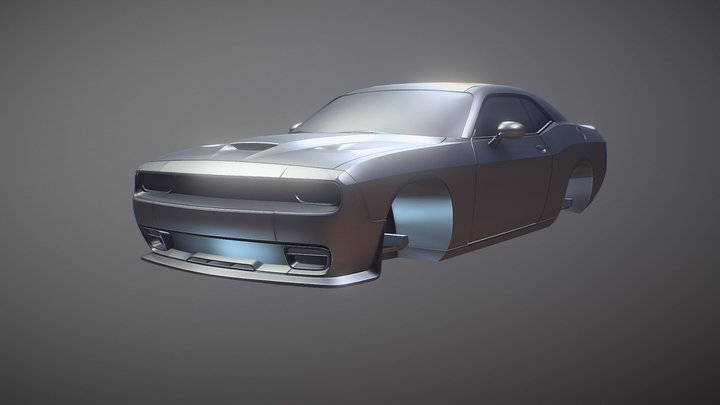 Dodge Challenger Modified 3D Model
