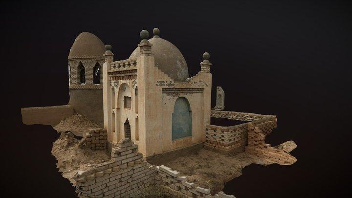 A mausoleum. Graveyard in Kyrgyzstan. 3D Model