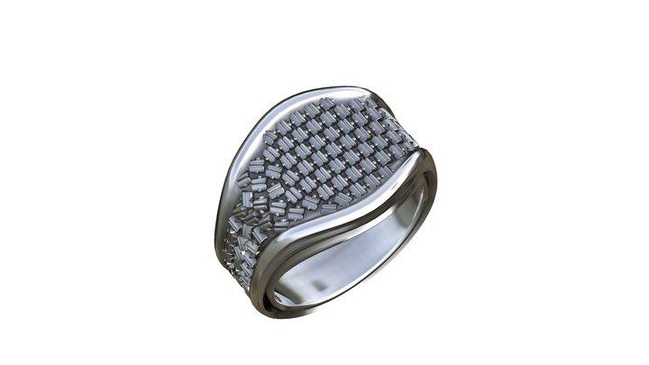 Men's ring - Xi 3D Model