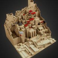 Desert Mountain City 3D Model