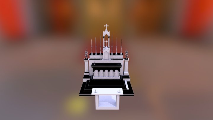 Church Altar 2 3D Model